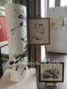 Aquarelle et encres installations Dominique Coppe