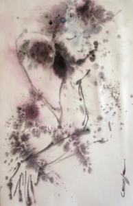 Lisa 2 Aquarelle et encre Dominique Coppe