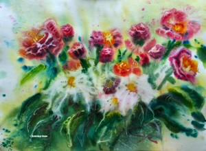 Impression florale  4(0,48x0,62 H.C.) Dominique Coppe