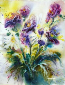 Impression florale 2 (0,48x0,62. H.C.) Dominique Coppe