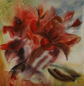 fleurs 6 aquarelle Dominique Coppe