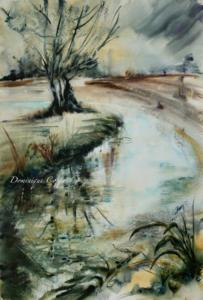 Promenade. aquarelle Dominique Coppe (1) (1)