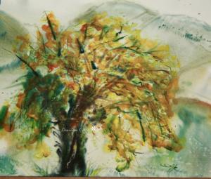 Feux d'artifice aquarelle Dominique Coppe